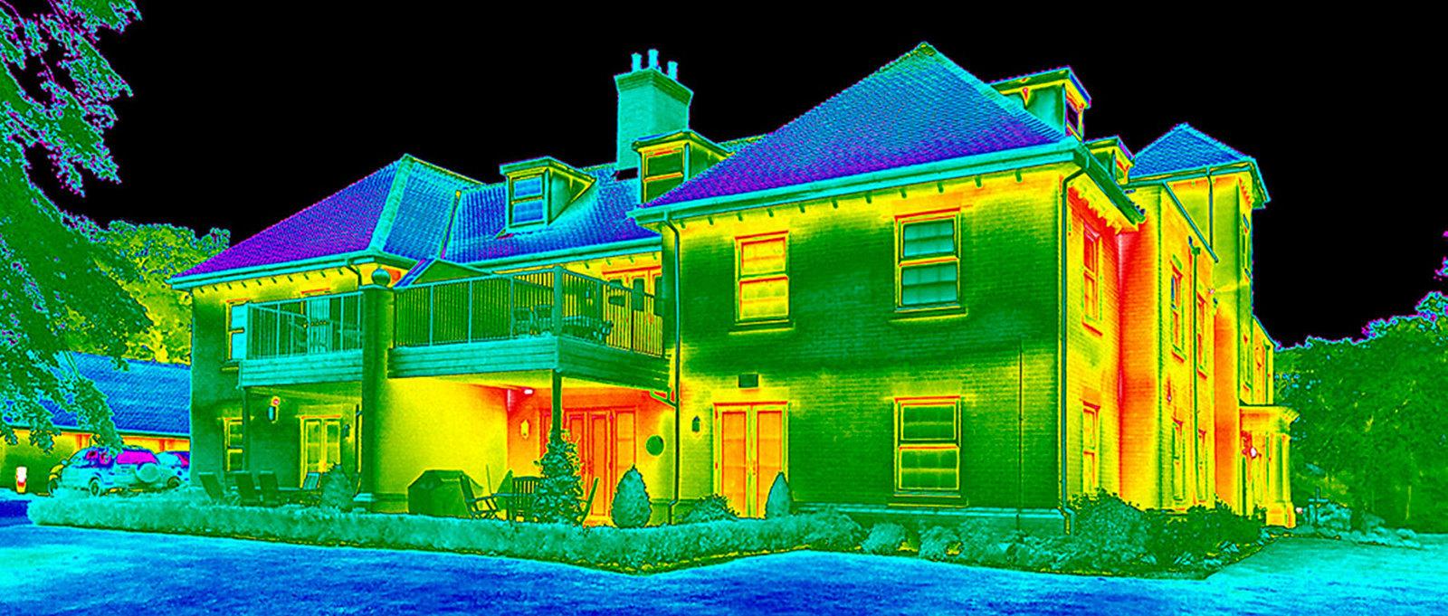 Обследование зданий тепловизором